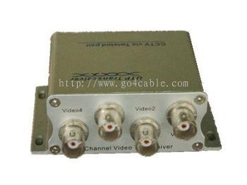 4 channel UTP passive video transceiver 300M