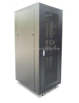 18U 600(W) X 600(D) X 990(H) PERSPEX DOOR RACK MOUNT CABINET