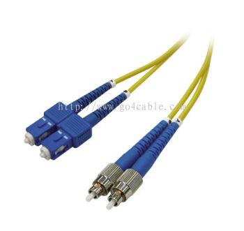 SC-FC 9/125UM  Fiber Optic Patch Cord DUPLEX 3MTR