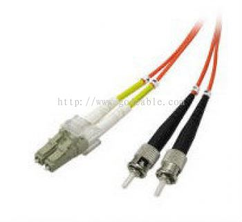 ST-LC 50/125UM Fiber Optic Patch Cord DUPLEX 3MTR