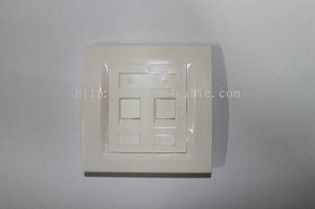 Face Plate Double Port