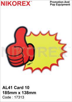 17313 - AL41 CARD 10 185mm x 138mm