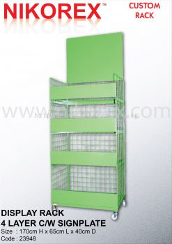 23948 - DISPLAY RACK 4 LAYER C/W SIGNPLATE