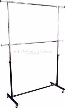 16104-1009-1-3'T-STAND-2ROUND BAR