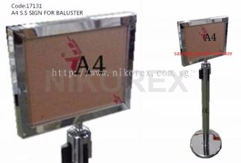 17131-A4 SIGN HOLDER FOR BALUSTER