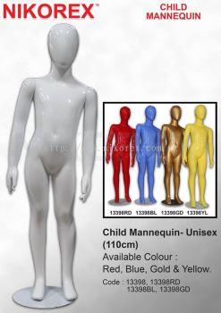 13398-CHILD MANNEQUIN-UNISEX(110CM)-WHITE
