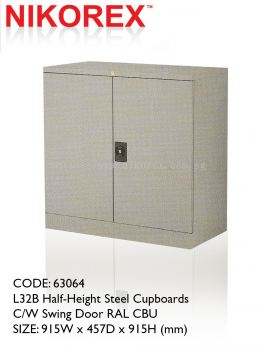 63064 - L32B Half-Height Steel Cupboards C/W Swing Door RAL CBU