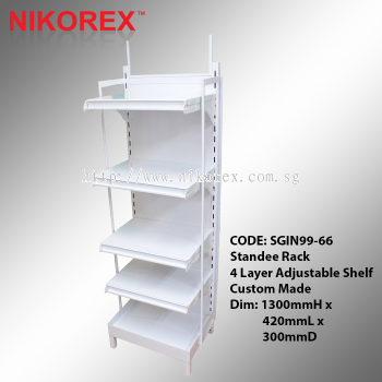 SGIN99-66 - Standee Rack 4 Layer Adjustable Shelf