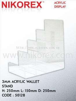 50128-3MM ACRYLIC WALLET STAND 250MMHX150MMLX250MMD