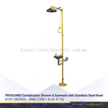 PROGUARD Combination Shower & Eyewash with Stainless Steel Bowl