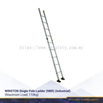 WINSTON Single Pole Ladder (NBR)(Industrial)(3 Years Warranty)