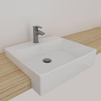 Gemelli Square Semi Recessed Basin 550 x 480-1 TH