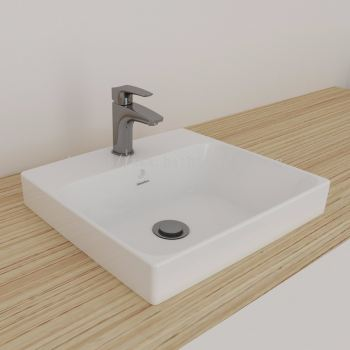Gemelli Square Semi Insert Basin 450 x 410-1 TH