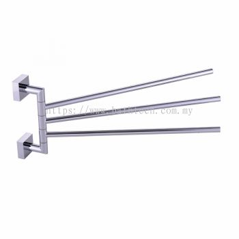 Rivoli Triple Towel Rails (Swivel) (100171)