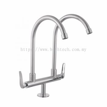 "Fermo 1/2"" Deck Mounted Double Sink Tap (300947)"