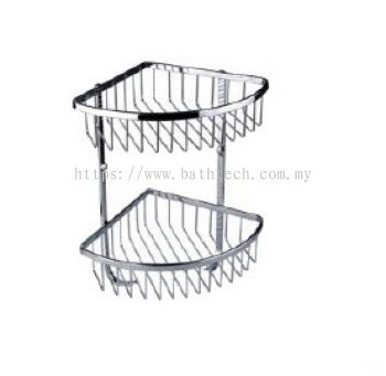 Abagno SC-004DH Double Layer Corner Basket with Hook
