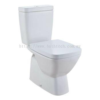 Bergamo Square Close-Coupled WC