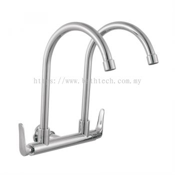 Fermo Wall Mounted Double Sink Tap (300948)