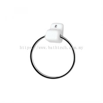 Screw-to-wall Towel Ring Set