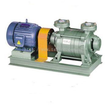 Double stage liquid ring vacuum pump