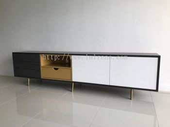 Tv Console with spray paint