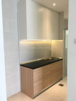 Melamine Abs Kitchen Cabinet for Airbnb or Rent