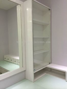 Make up table display cabinet
