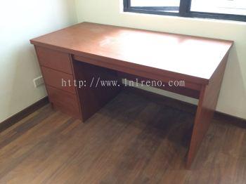 Working table with nyatoh veneer stain finish