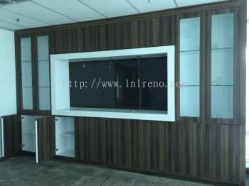 Office Custom made display cabinet with glass door display (FREE QUOTATION)