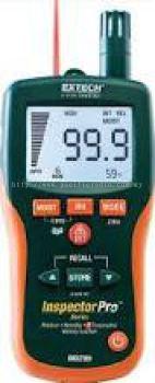Extech MO295: Pinless Moisture Psychrometer + IR Thermometer