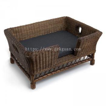 PB 001 -  RATTAN PET BED