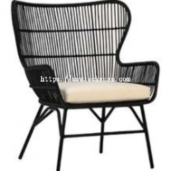 RLC 001 - RATTAN LOUNGE CHAIR + STEEL