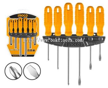 INGCO HKSD0658 6 Pcs Screwdriver Set