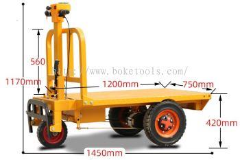 Boke Tools Machinery Pte Ltd : EPT-800 Electric Platform Trolley