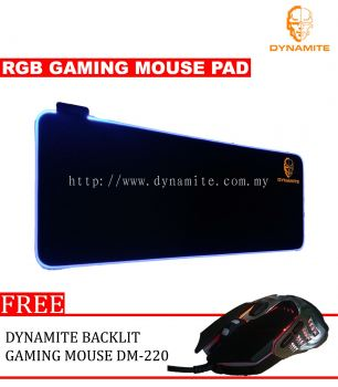 Dynamite RGB Gaming Mouse Pad and Backlit Gaming Mouse DM220