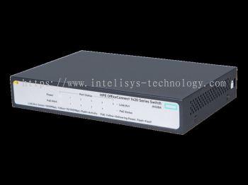 HPE 1420 5G PoE+(32W) Switch (4-ports PoE+)JH328A