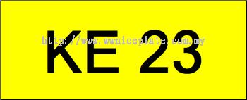 Number Plate KE23