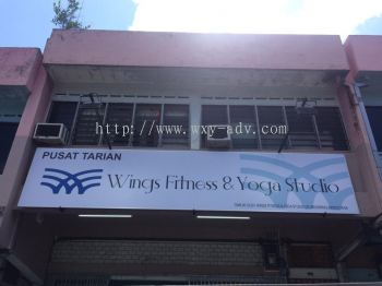 Wings Fitness & Yoga Studio Polycarbonate Signage
