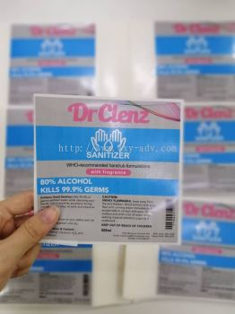 Dr Clenz Label Sticker