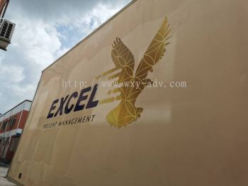 EXCEL FREIGHT MANAGEMENT Lorry sticker