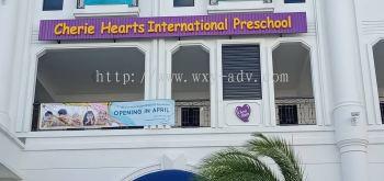 Cherie Hearts International Preschool Aluminium Box Up Signboard