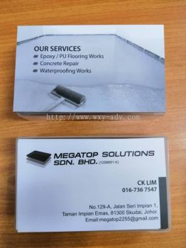 MEGATOP SOLUTIONS SDN. BHD. Name Card
