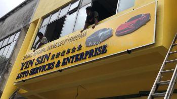 YIN SIN AUTO SERVICES & ENTERPRISE PVC signboard