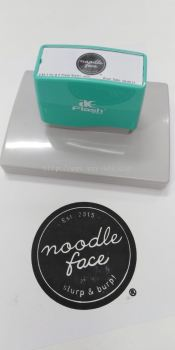 Noodle Face Rubber Stamp