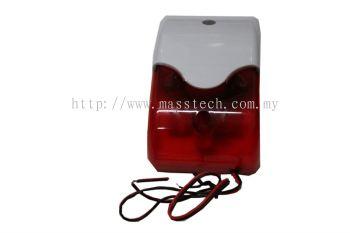 Siren Light Red Strobe with Wire