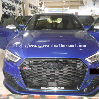 AUDI RS 3 SEAT REPLACE NAPPA LEATHER WITH LOGO