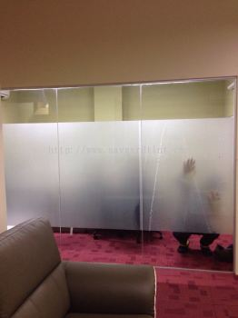 2) Office Full Frosted Glass Tint