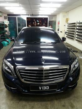 1) Benz S400 Car Tinting - ASWF Charoal 15 & Excel IRP 25