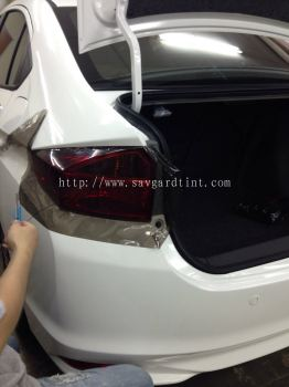 1) Honda City - Car Rear Lamp Tint