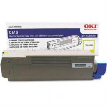 OKI C610 Yellow Toner (44315309)